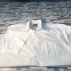 White short sleeve dress shit